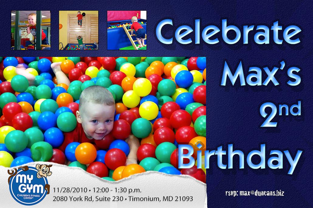 Max's 2nd Birthday Invite